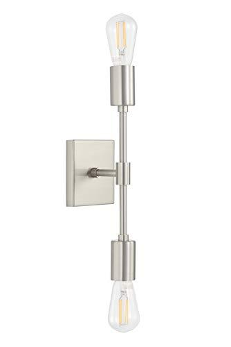 Top 10 2-Light Vanity Light, Bathroom Wall Sconce Fixture Brushed Nickel – Wall Sconces