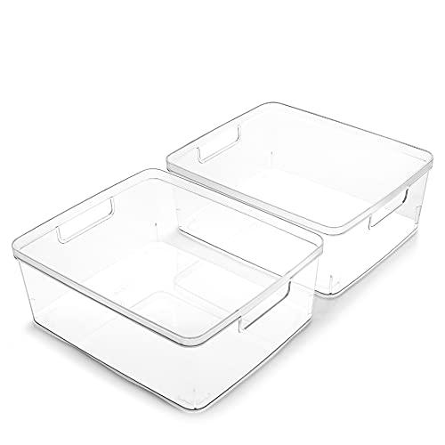 Top 10 Plastic Storage Bins with Handles – Kitchen Storage Accessories