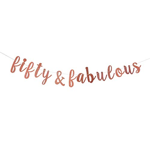 Top 10 Fifty and Fabulous Banner – Kids' Party Banners