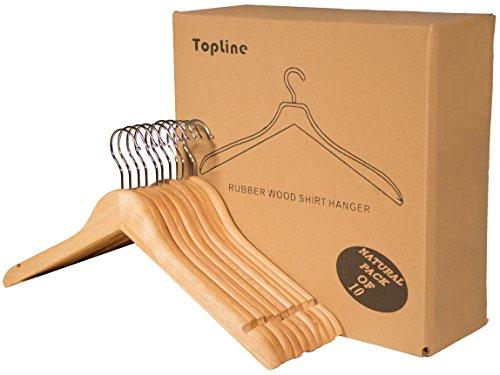 Top 10 Wooden Hangers 10 Pack – Standard Hangers