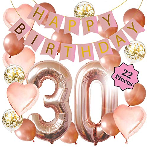 Top 10 30th Birthday Decorations for Her – Party Balloons