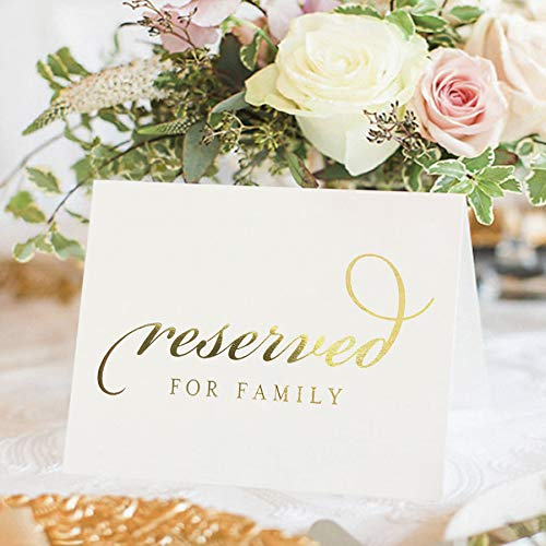 Top 10 Reserved for Family Table Sign – Table Place Cards & Place Card Holders