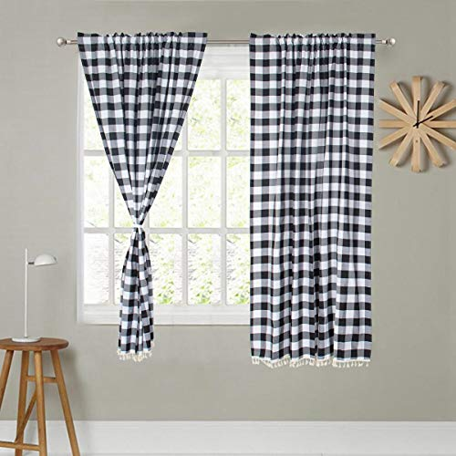 Top 10 Checked Curtains for Living Room – Window Curtain Panels