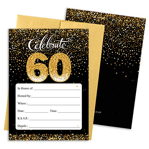 Top 10 Birthday Cards for 60th Birthday – Party Invitations