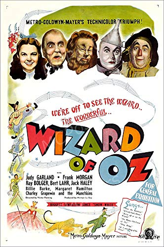 Top 7 Wizard of Oz Movie POSTER – Posters & Prints