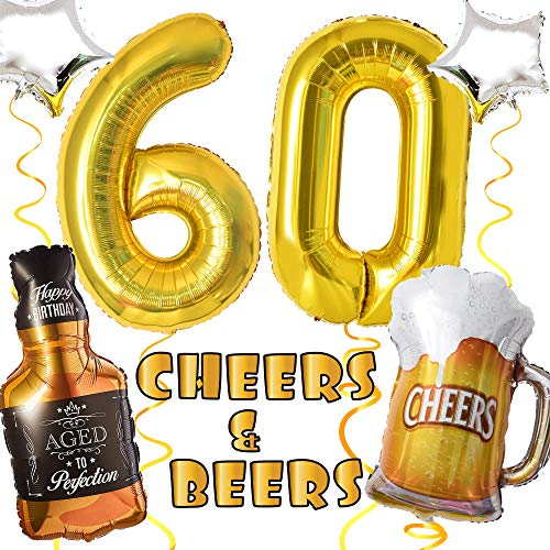 Top 10 Cheers and Beers to 60 Years – Party Balloons
